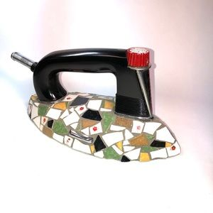 Vintage General Mills iron embellished with mosaic